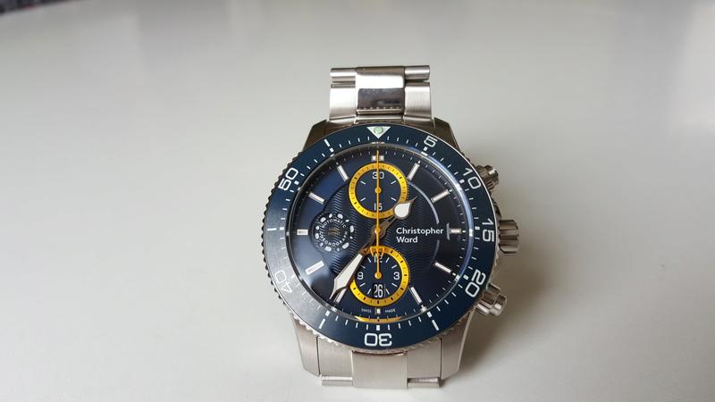 ward - un chronographe de plongée Christopher Ward, Trident C60 pro 600. 20170716