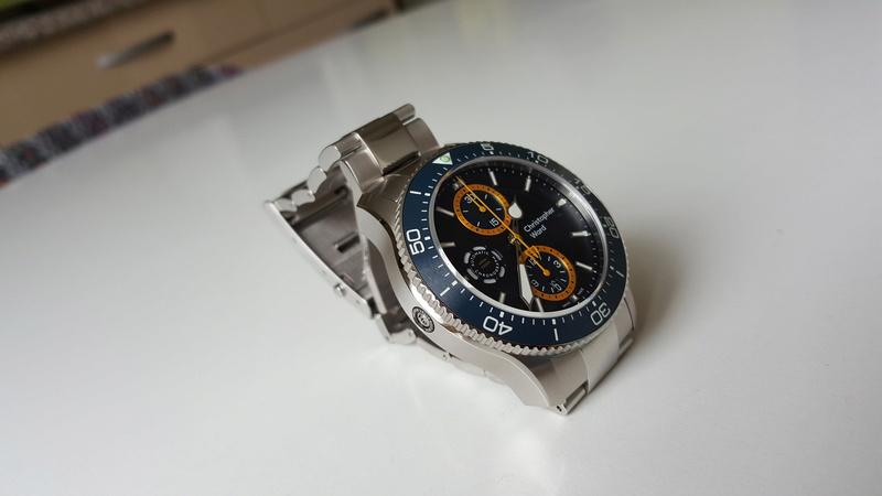 ward - un chronographe de plongée Christopher Ward, Trident C60 pro 600. 20170722