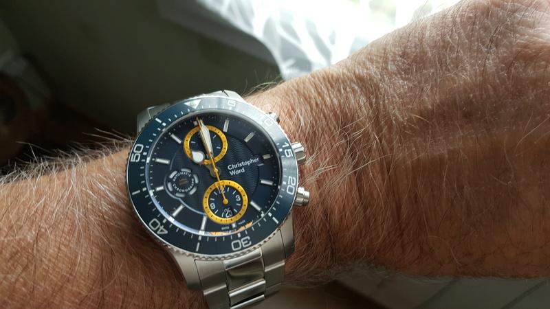 ward - un chronographe de plongée Christopher Ward, Trident C60 pro 600. 20170731