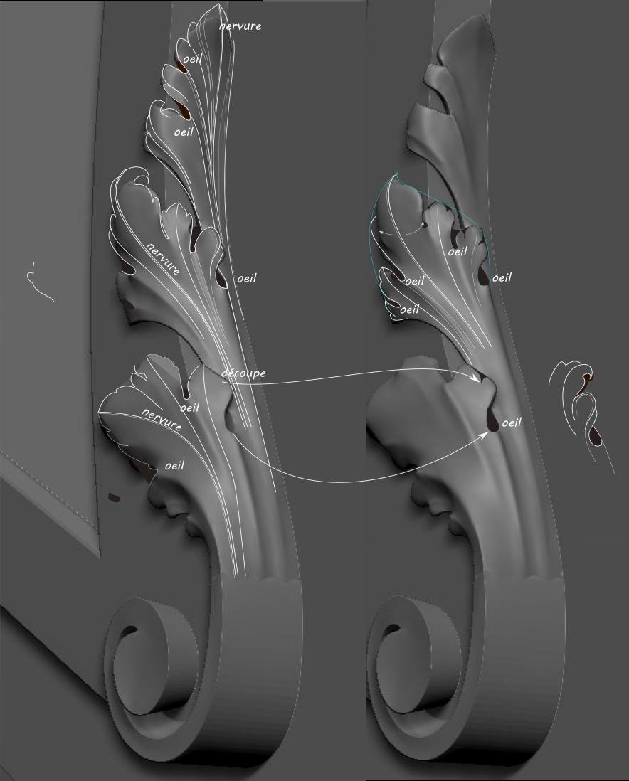 Brouillons: quand la sculpture virtuelle remplace l'argile Acanth11