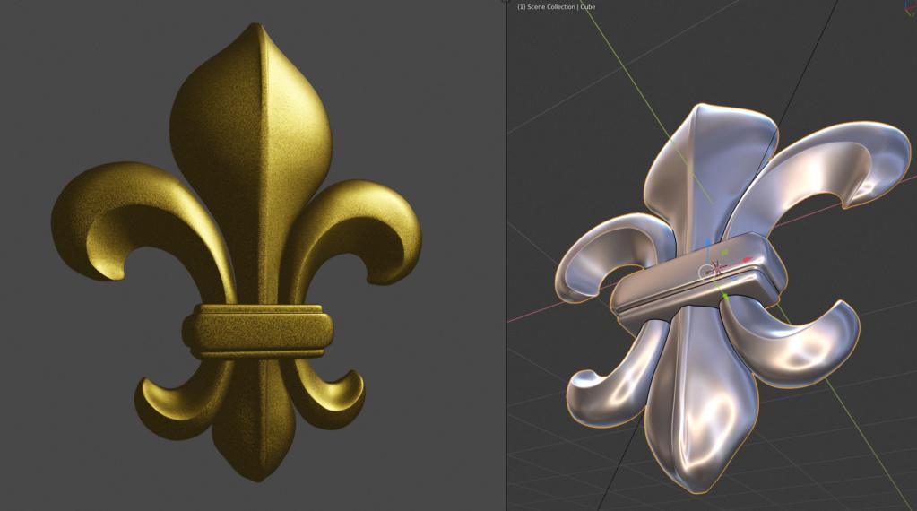Brouillons: quand la sculpture virtuelle remplace l'argile - Page 2 Fleur_10