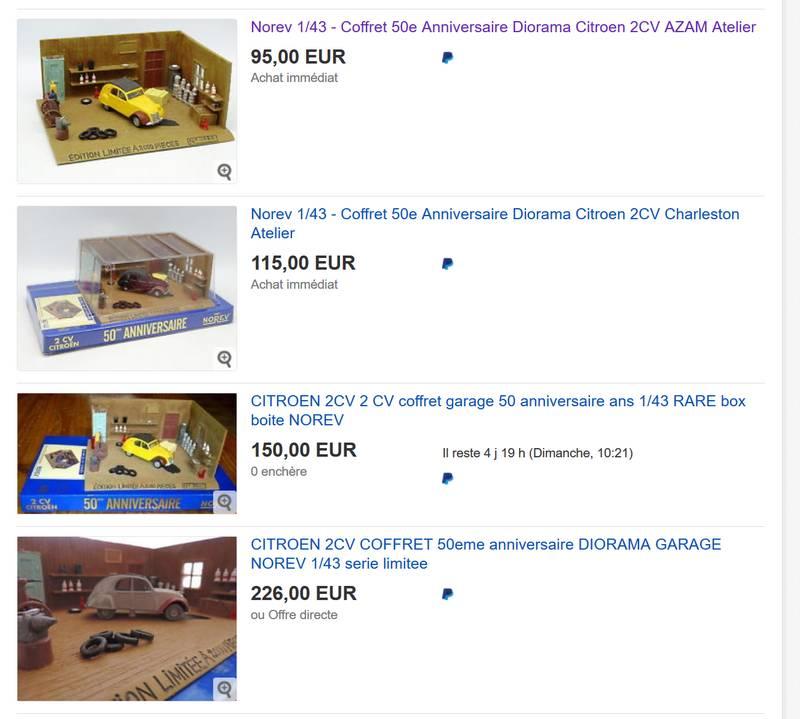 recensement coffret Norev-Auchan 1998 2cv11