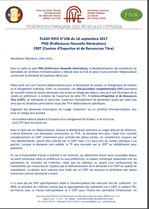 Infos FFVE Ffve110