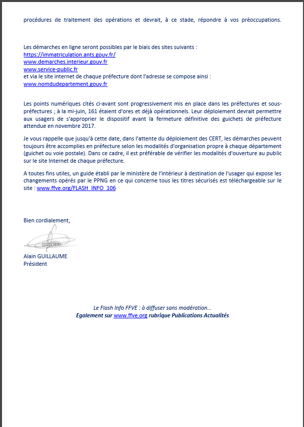 Infos FFVE Ffve210