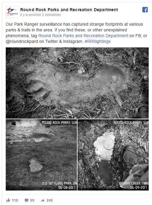 Bigfoot : de mystérieuses empreintes photographiées 1110