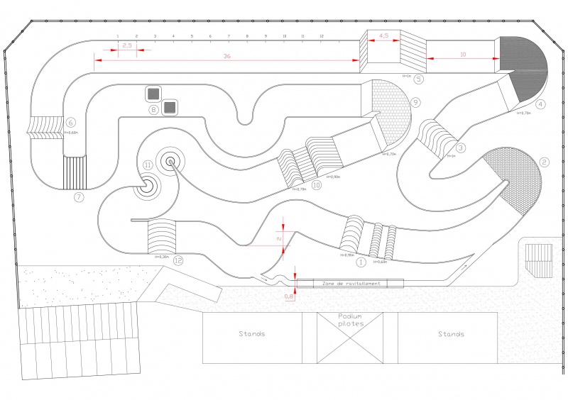 En Construction - Proposition de tracés de pistes pour voitures RC Pistet11