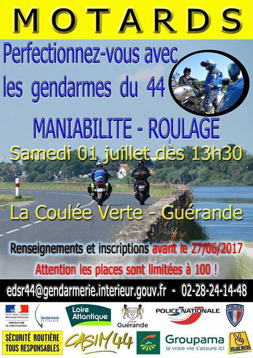 1ER JUILLET : Prévention 2RM à Guérande (44) Affich10