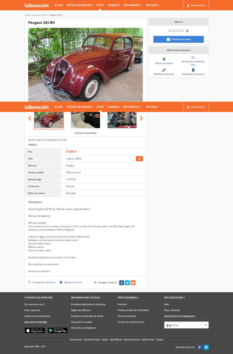 Vends ma Peugeot 202 Peugeo19