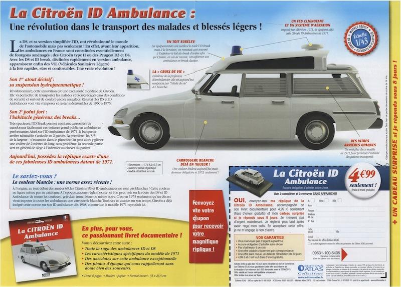 """Citroën miniatures > """"Ambulances, transports de blessés et assistance d'urgence aux victimes"""" Id_19_10"""
