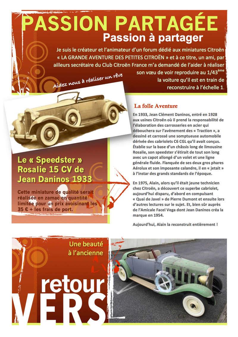 Club Citroën France > Projet : miniature de la Rosalie 15CV de Jean Daninos au 1/43 (2017) Passio12