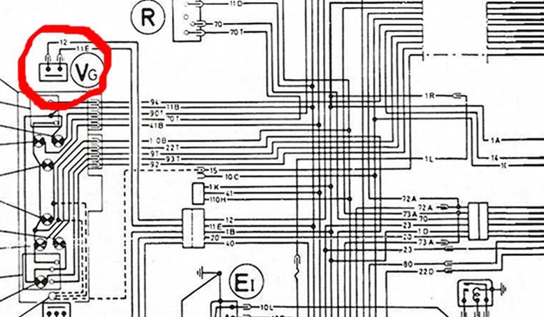 Alimentation moteur d'essui-glace B3bis10