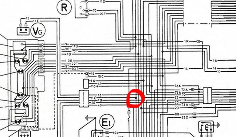 Alimentation moteur d'essui-glace B3bis12