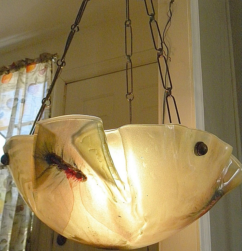 Need help to Id suspended art glass chandelier Chandf16