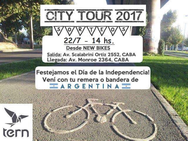 TERN CITY TOUR desde NEW BIKES  * FECHA REPROGRAMADA * Tct20110