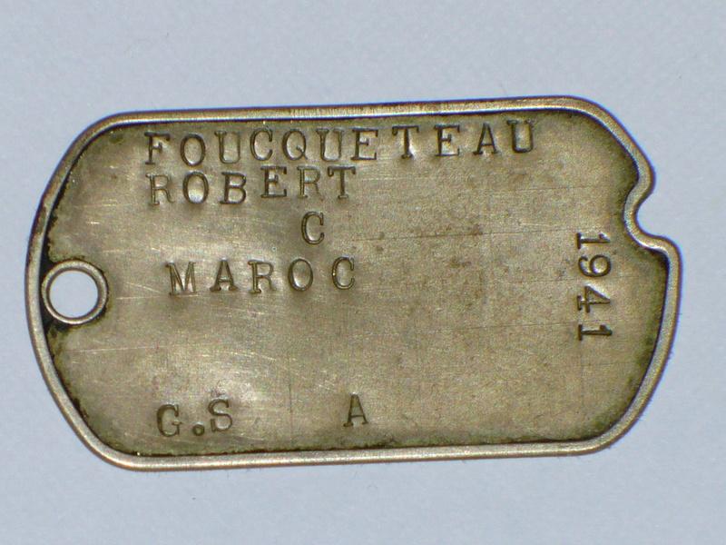Plaque identité US d'un soldat français P1200820