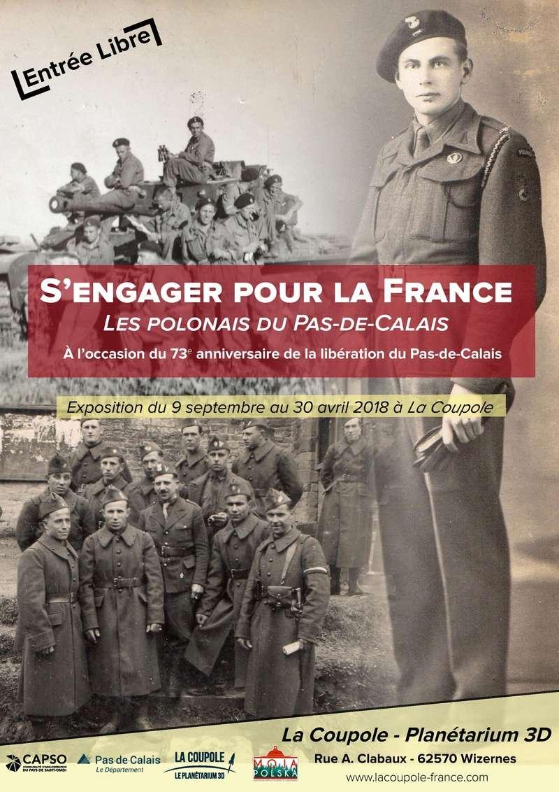 """Exposition """"S'engager pour la France, les Polonais du PdeC"""" Affich11"""