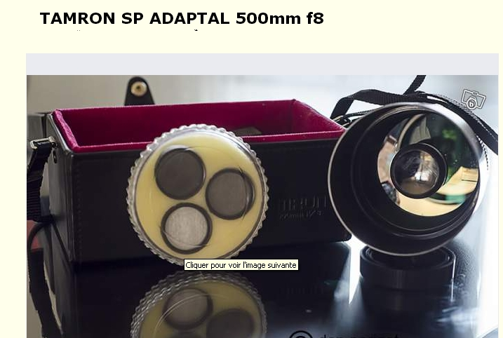 Tamron SP Adaptall-2 500mm f/8 (Modèle 55B) - Page 4 Tamron10