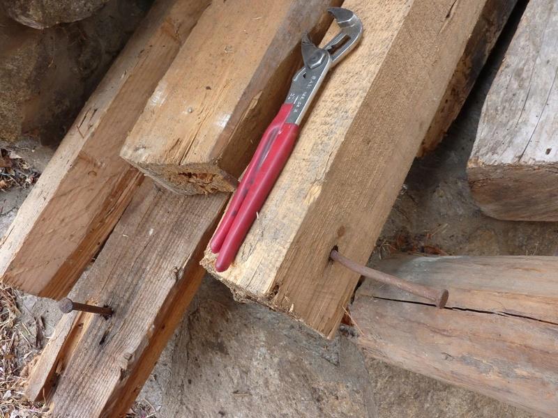 Arracher des crosses de charpentiers P1110020