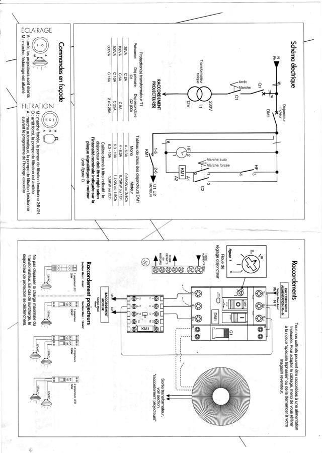 Cablage électrique coffret piscine Coffre13