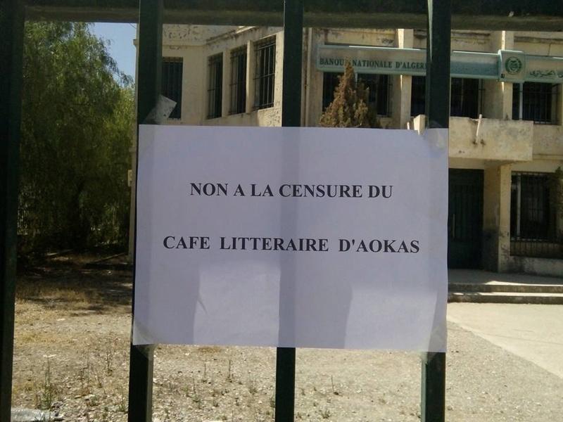 Non à la censure du CAFE LITTERAIRE D'AOKAS 1209