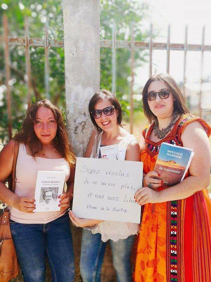 Amira Bouraoui à Aokas le 29 juillet 2017 lors de la marche Historique pour la liberté d'expression Amira10