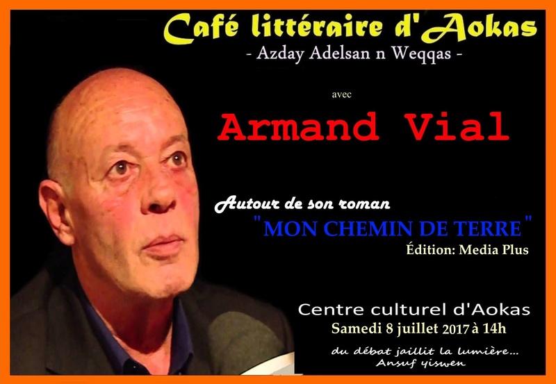 L'écrivain Armand Vial ce samedi à Aokas  Confer10