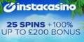 InstaCasino 25 Casino Spins no deposit bonus
