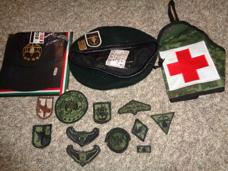 Mexican Special Forces * Small Cluster Of Insignia Dsc07119