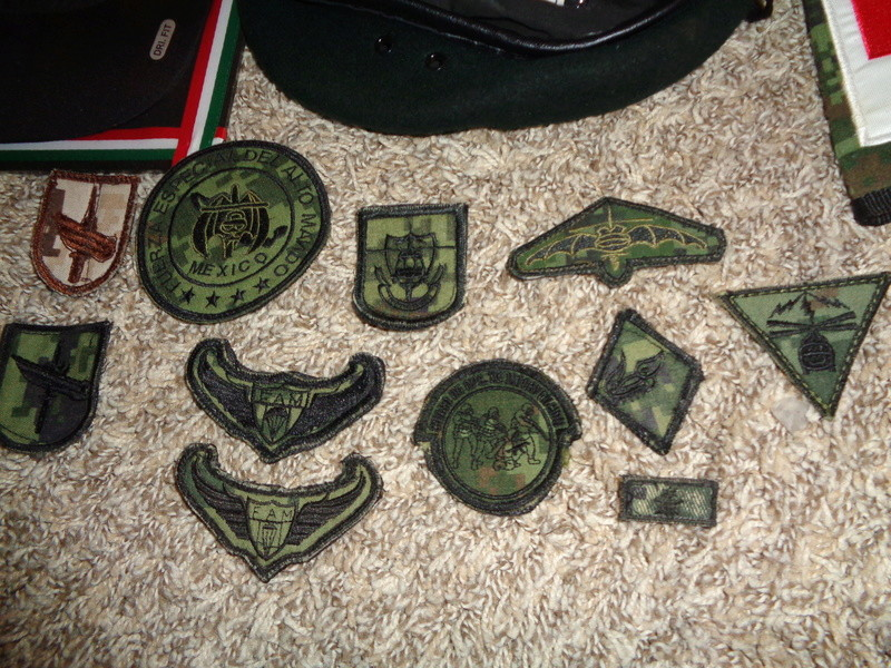 Mexican Special Forces * Small Cluster Of Insignia Dsc07121
