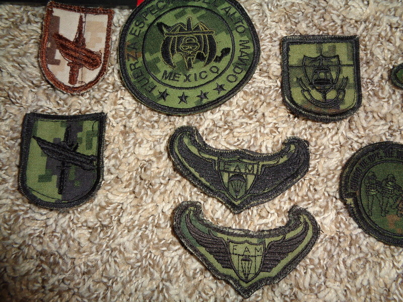 Mexican Special Forces * Small Cluster Of Insignia Dsc07123