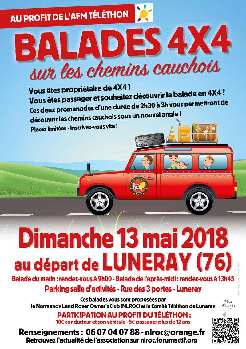 13 Mai 2018: Balades au profit du Téléthon en Haute Normandie  Affich11