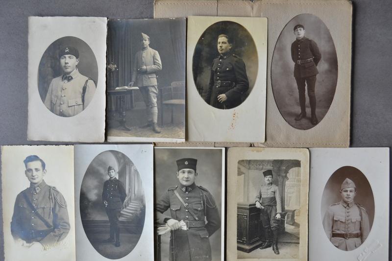 Lot 13 photos/cartes d'époque bien régimentées. CLOTUREE. Dsc_1328