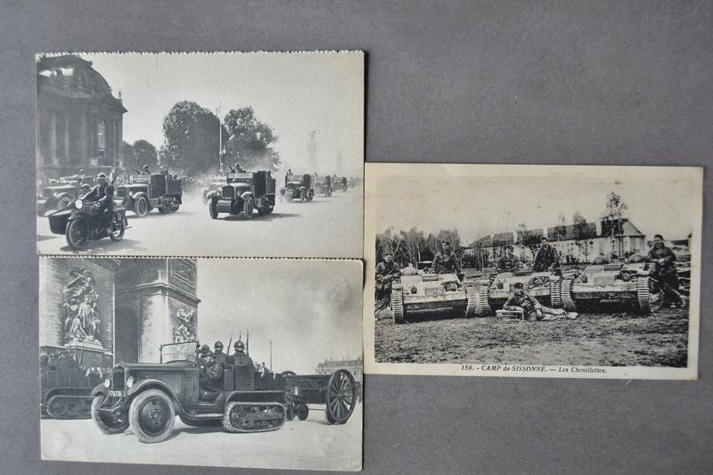 Lot 3 cartes postales d'époque. Thème véhicule Armée Française 1930/1940. CLOTUREE Dsc_1329