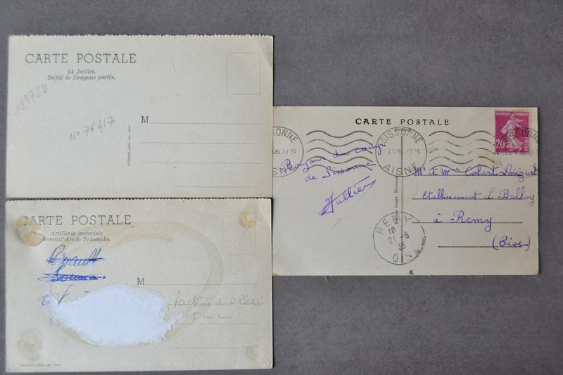 Lot 3 cartes postales d'époque. Thème véhicule Armée Française 1930/1940. CLOTUREE Dsc_1330