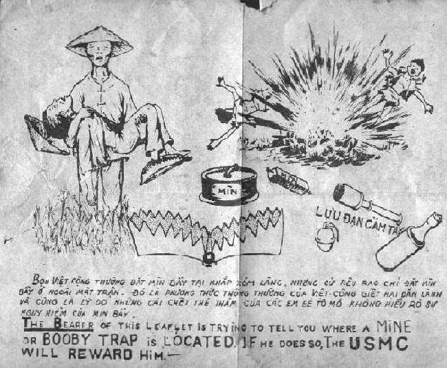 Les pièges en bambou Vietcong (Booby traps) partie 2 Usmc-b10