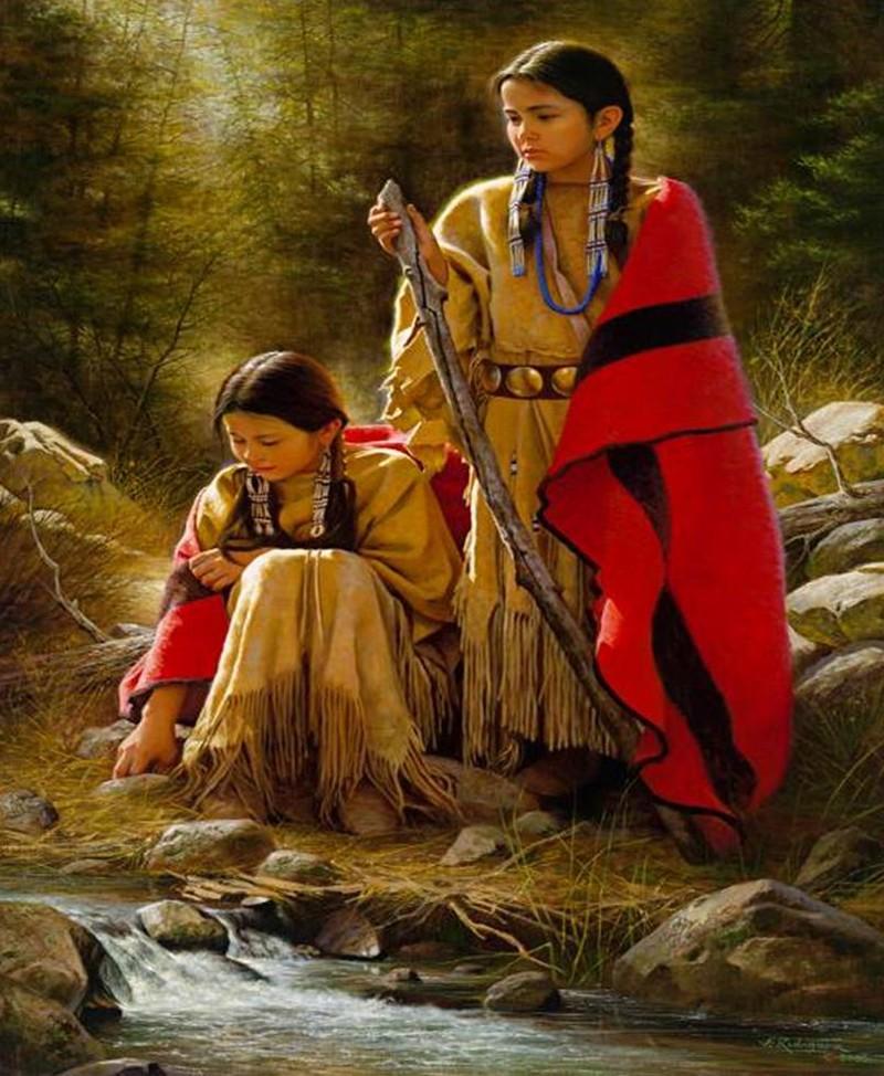 Alfredo Rodriguez, peintre des indiens et de l'ouest américain Captu141