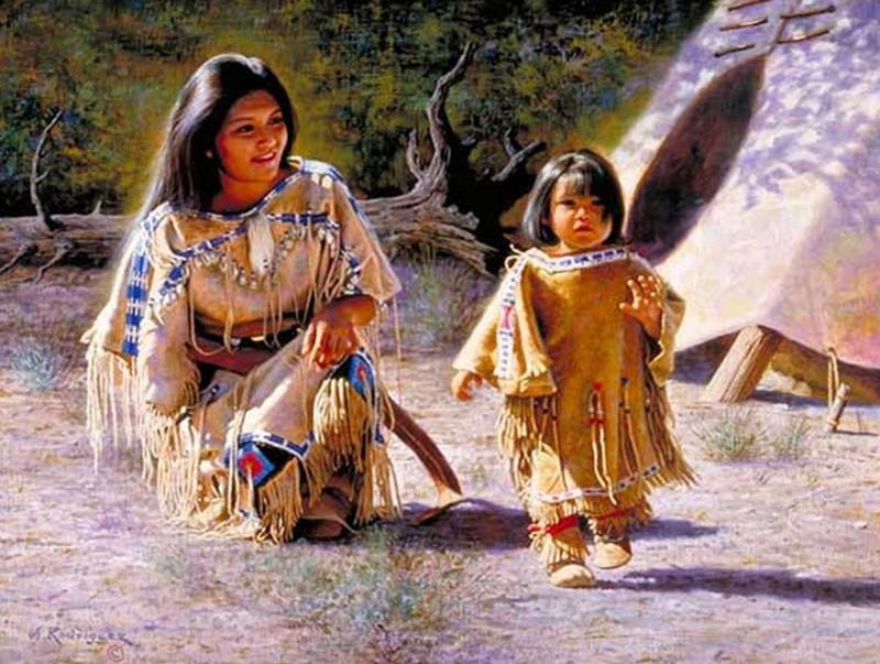 Alfredo Rodriguez, peintre des indiens et de l'ouest américain Captu144