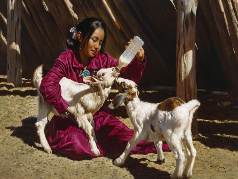 Alfredo Rodriguez, peintre des indiens et de l'ouest américain Captu146