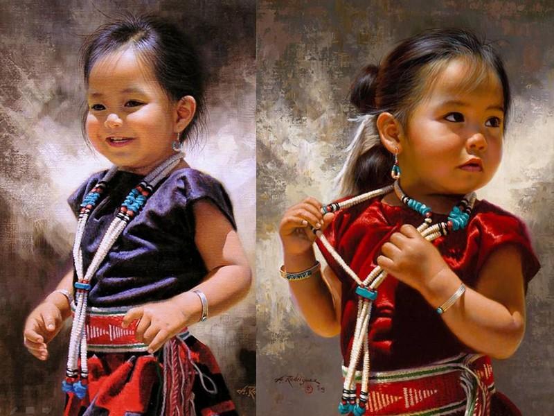 Alfredo Rodriguez, peintre des indiens et de l'ouest américain Captu150