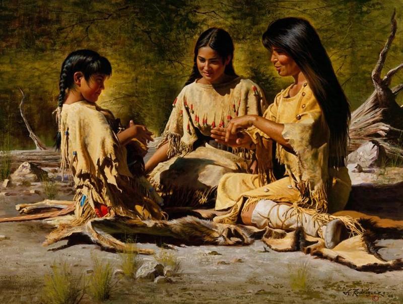 Alfredo Rodriguez, peintre des indiens et de l'ouest américain Captu151
