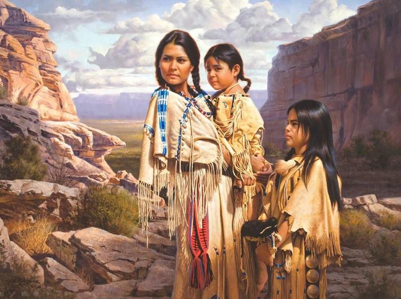 Alfredo Rodriguez, peintre des indiens et de l'ouest américain Captu152