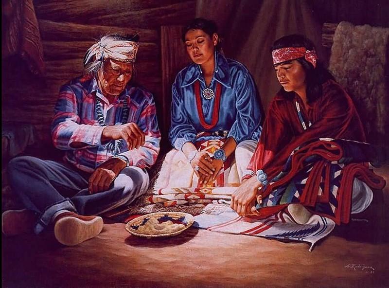 Alfredo Rodriguez, peintre des indiens et de l'ouest américain Captu153