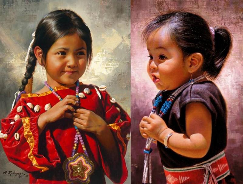 Alfredo Rodriguez, peintre des indiens et de l'ouest américain Captu154