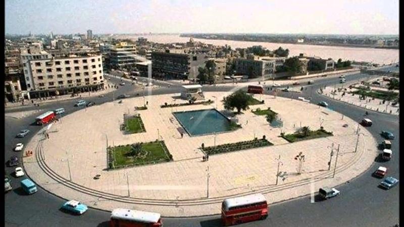 ساحة التحرير في بغداد قبل إنشاء النفق _oa_ia10