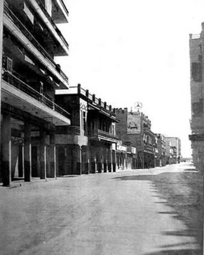 شارع الرشيد في يوم منع التجول عام 1907 _oa_ia12