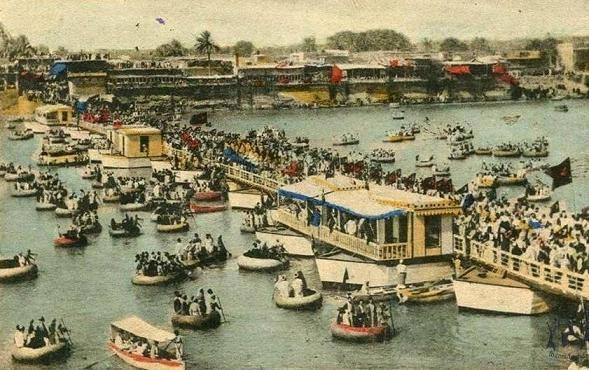إحتفالات إفتتاح الجسر العتيق (جسر الشهداء) في بغداد في عهد الوالي نامق باشا عام 1902 Io_i_o10