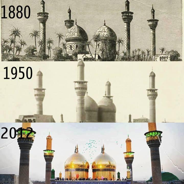 مرقد الإمامين موسى الكاظم ومحمد الجواد ( ع ) خلال الأعوام من 1880 ـ 2012 Oi_oao10