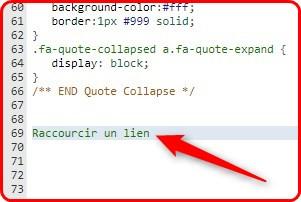 """fff - Code CSS """"raccourcir un lien"""" 1022"""
