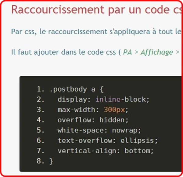 """fff - Code CSS """"raccourcir un lien"""" 1118"""