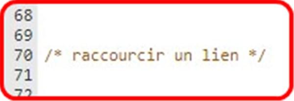 """fff - Code CSS """"raccourcir un lien"""" 1123"""
